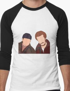 Harry and Marv, Home Alone Faceless Men's Baseball ¾ T-Shirt
