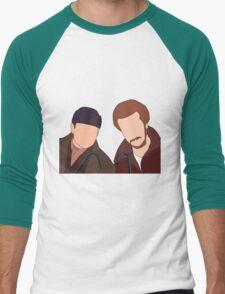 Harry and Marv, Home Alone Faceless Men's Baseball ¾ T-Shirt