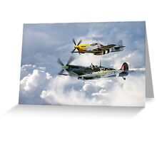 Flying Brothers Greeting Card