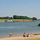 The Rhine at Meerbusch, NRW, Germany. by David A. L. Davies