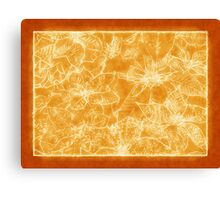 Mixed color Poinsettias 1 Outlined Orange Canvas Print