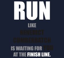 Run like Benedict Cumberbatch is waiting! One Piece - Long Sleeve