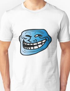 Cool Blue Trollface Unisex T-Shirt
