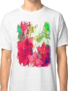 Mixed color Poinsettias 1 Serene Classic T-Shirt