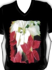 Mixed Color Poinsettias 2 Angelic T-Shirt