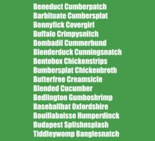 Beneduct Cumberpatch (left-aligned text) Kids Clothes