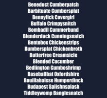 Beneduct Cumberpatch (centred text) One Piece - Long Sleeve