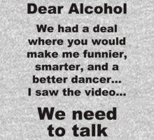 Dear Alcohol One Piece - Long Sleeve