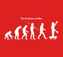 The Evolution of Man - Robot Baby Tee