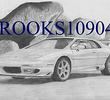 Lotus Esprit Turbo EXOTIC CAR ART PRINT by rooks10904