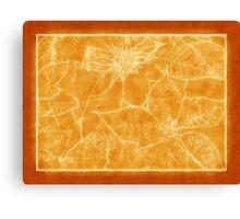 Mixed Color Poinsettias 2 Outlined Orange Canvas Print