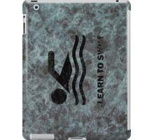 Learn to swim iPad Case/Skin