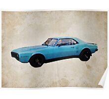 Grabber Blue Firebird Poster
