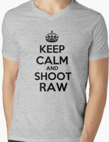 Keep calm and shoot raw Mens V-Neck T-Shirt