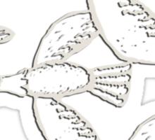 Wild Geese - Muscovy ducks, birds, nature, flora, vegan, vegetarian, not hunters, hunting ban Sticker