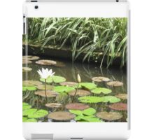 Balinese Lotus Pond green and tranquil iPad Case/Skin