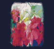 Mixed color Poinsettias 3 Serene Kids Clothes