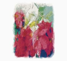 Mixed color Poinsettias 3 Serene Kids Tee