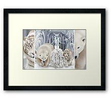 Ice Faerie with Polar Bear & White Tiger Framed Print