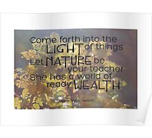 Let Nature Be Your Teacher Poster
