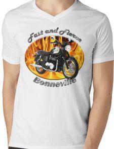 Triumph Bonneville Fast and Fierce Mens V-Neck T-Shirt