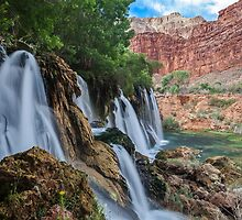 Fifty Foot Falls by Russ Nordstrand