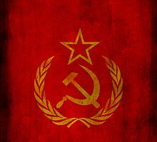 Soviet Union - CCCP - USSR - Russian - Cold War (Laurel Wreath) by James Ferguson - Darkinc1