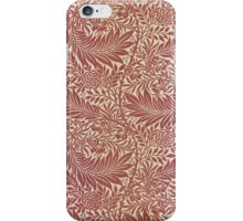 William Morris Floral Paper Burgundy and White iPhone Case/Skin