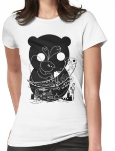 Here Comes Bear Womens Fitted T-Shirt