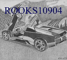 Lamborghini Murcielago Roadster EXOTIC CAR ART PRINT by rooks10904