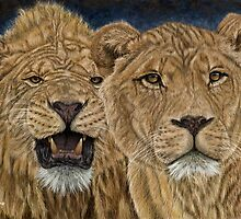 LION DUO by Martin  Wilneff