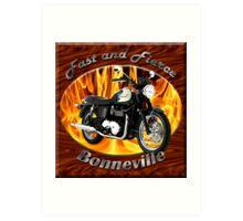 Triumph Bonneville Fast and Fierce Art Print