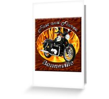 Triumph Bonneville Fast and Fierce Greeting Card