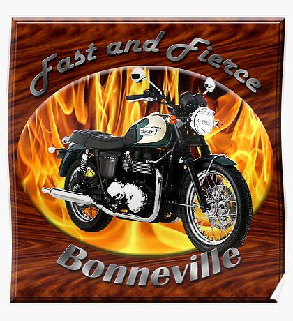 Triumph Bonneville Fast and Fierce Poster
