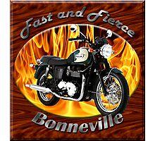 Triumph Bonneville Fast and Fierce Photographic Print
