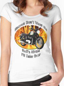 Triumph Bonneville Heaven Don't Want Me Women's Fitted Scoop T-Shirt