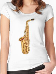 Golden Saxophone Women's Fitted Scoop T-Shirt