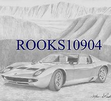 Lamborghini Miura P400 EXOTIC CAR ART PRINT by rooks10904