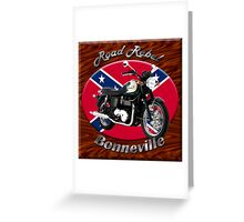 Triumph Bonneville Road Rebel Greeting Card