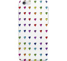Fun Flirty Rainbow Hearts iPhone Case/Skin