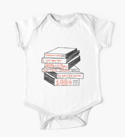 Haruki Murakami Book Stack One Piece - Short Sleeve