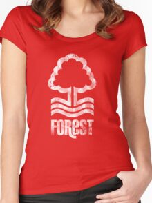 Nottingham Forest Distressed Logo Women's Fitted Scoop T-Shirt