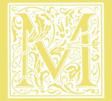 William Morris Renaissance Style Cloister Alphabet Letter M Kids Clothes