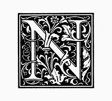 William Morris Renaissance Style Cloister Alphabet Letter N Unisex T-Shirt