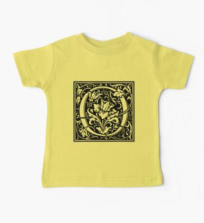 William Morris Renaissance Style Cloister Alphabet Letter O Baby Tee