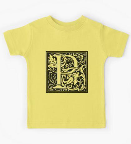 William Morris Renaissance Style Cloister Alphabet Letter P Kids Tee