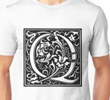 William Morris Renaissance Style Cloister Alphabet Letter Q Unisex T-Shirt