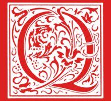 William Morris Renaissance Style Cloister Alphabet Letter Q Kids Clothes