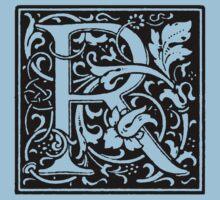 William Morris Renaissance Style Cloister Alphabet Letter R Kids Clothes