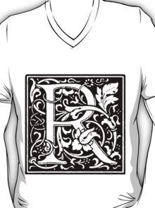 William Morris Renaissance Style Cloister Alphabet Letter R T-Shirt
